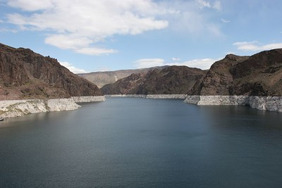 Lake Mead behind Hoover dam
