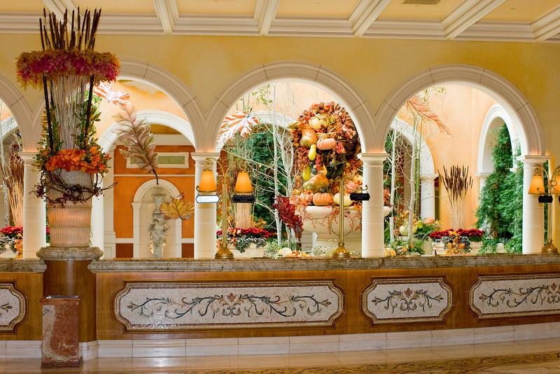 Reception desk at the Bellagio.
