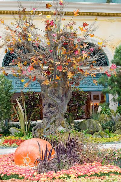 Seasonal art display in the atrium of the Bellagio.