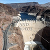 Hoover Dam in the border of Nevada and Arizona.