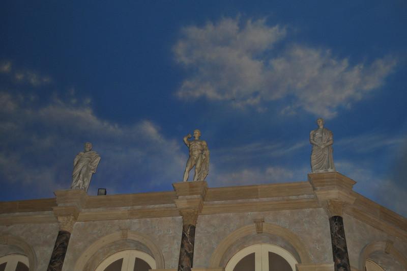 Inside Caesar's Palace.