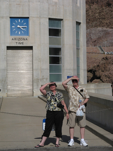 110 degrees at Hoover Dam