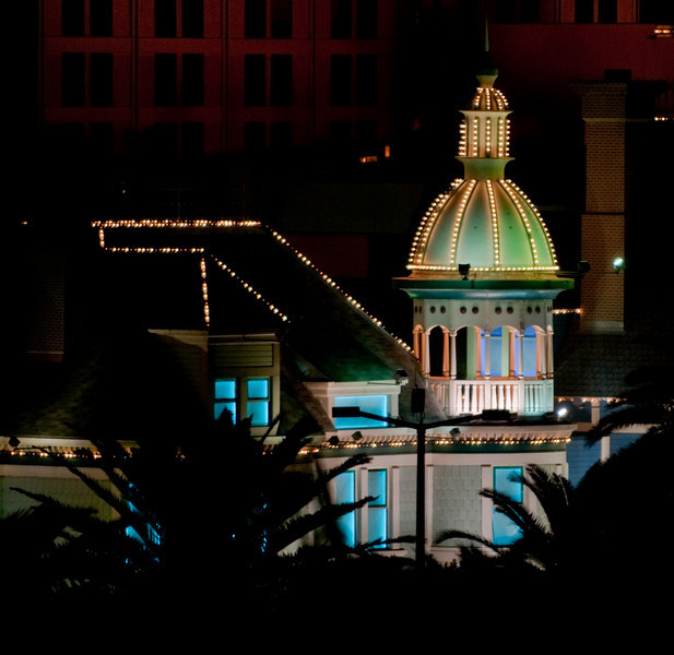 These are night photos taken from top level of the parking garage of the Mirage hotel