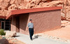 Valley of Fire Nevada State Park visitor center - Sandy had to take a photo of me coming from the men restroom