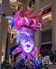 A giant mask at the around Waterfall at the Palazzo Hotel