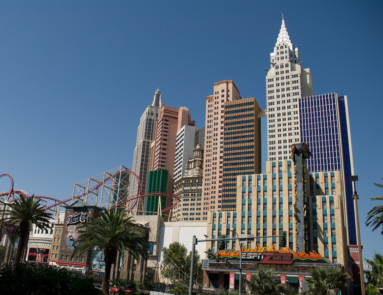 New York New York Hotel and Casino on Las Vegas Blvd.