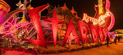 Lots of fabulous old signs from casinos & hotels, at the Neon Museum boneyard in Las Vegas.