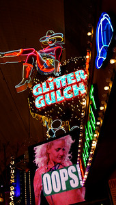 SA$$Y SALLY Sits High on Glitter Gulch! Freemont Street  Las Vegas Jan 09-13