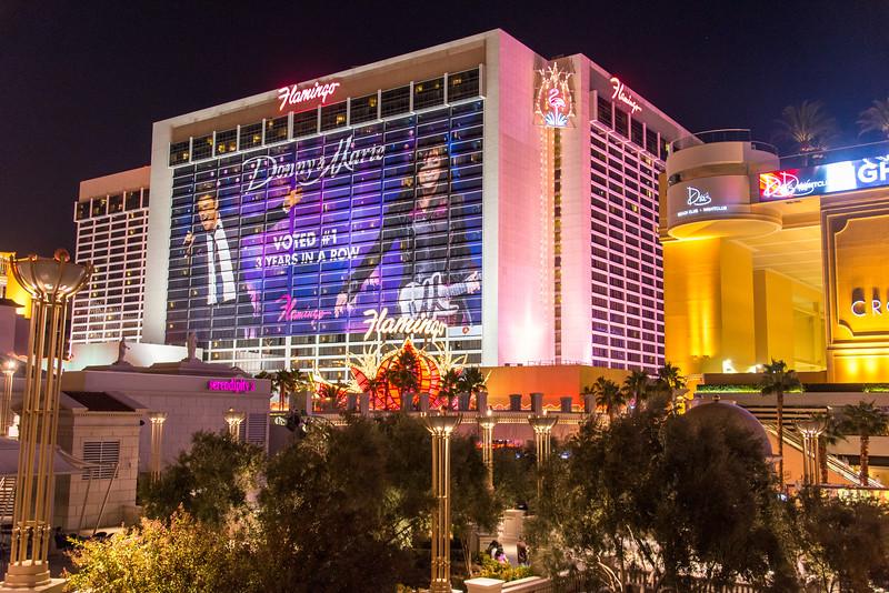 View of the Flamingo on Las Vegas Strip, November 2014