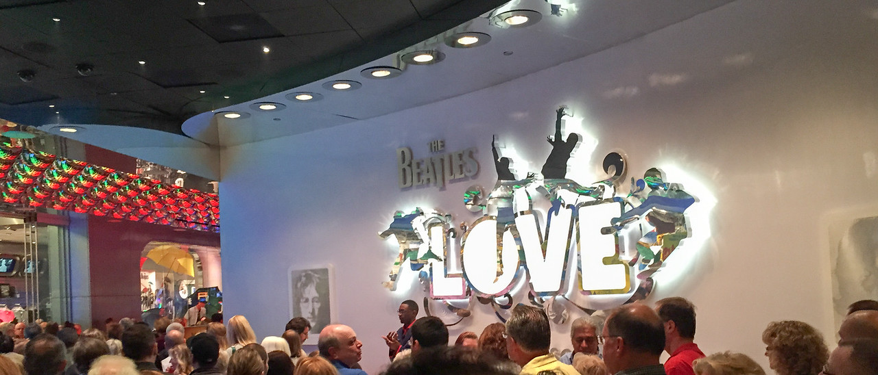 Crowd waiting to see Beatles LOVE tribute by Cirque du Soleil.  It was a great show!   Las Vegas, NV - November 2014 (Picture taken with iPhone)