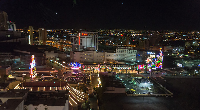 View from my room on the 28th floor of Circus Circus, Las Vegas, NV - November 2014