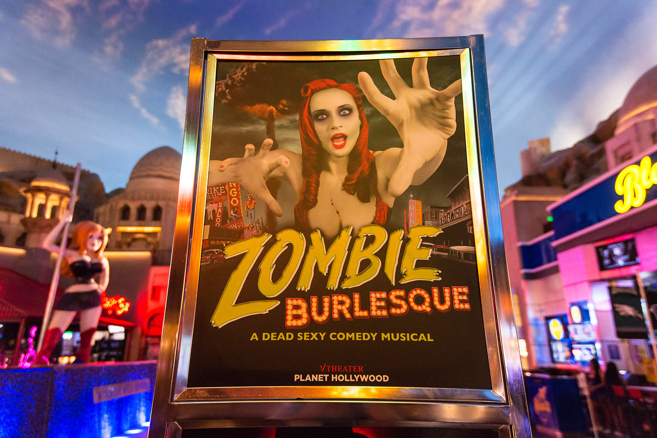 Poster for Zombie Burlesque in Planet Hollywood,  Las Vegas, NV - November 2014