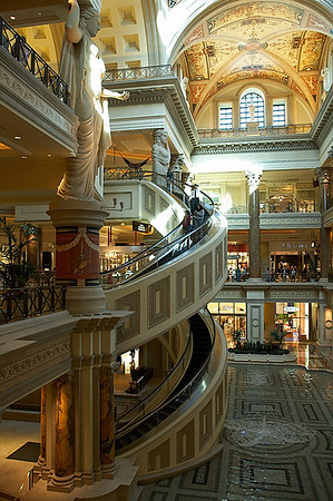 Decor inside the Forum  Shops.