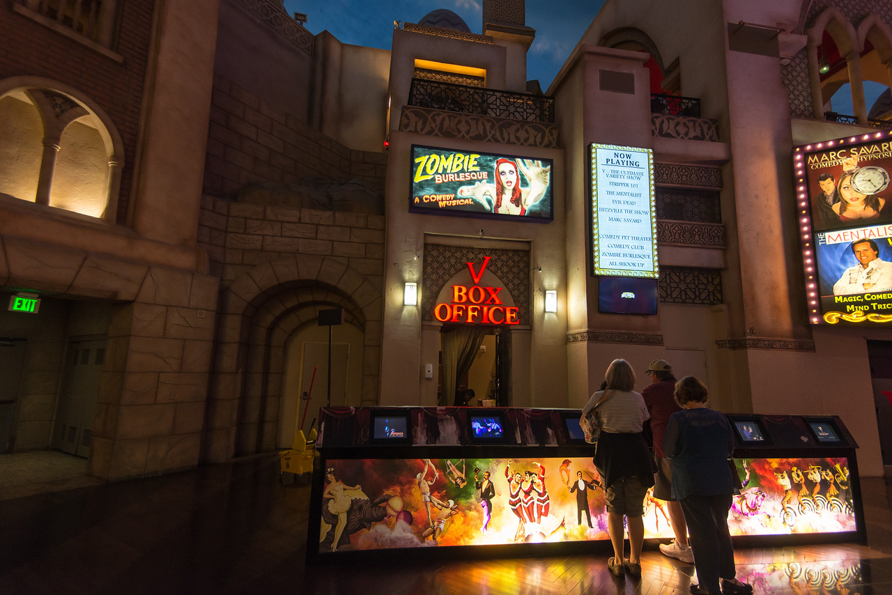Box office for Zombie Burlesque in Planet Hollywood.  The show was great!  Las Vegas, NV - November 2014