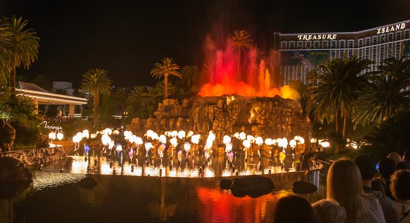 Volcano eruption at the Mirage, Las Vegas, November 2014