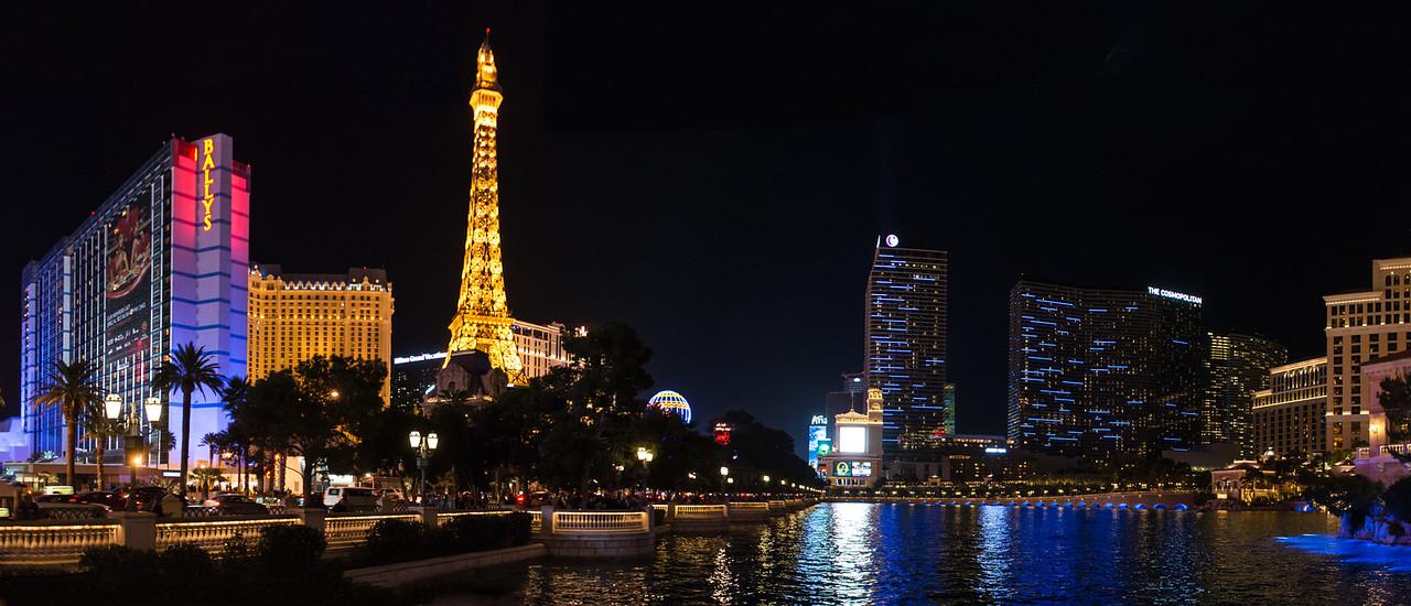 View of Las Vegas Strip, November 2014
