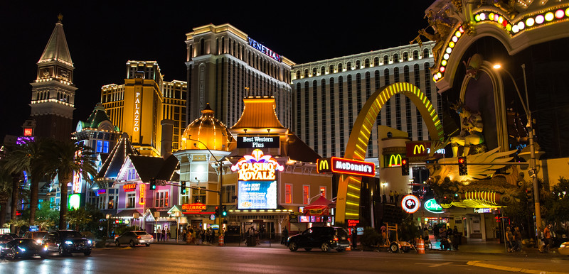 View of the Strip in Las Vegas, November 2014