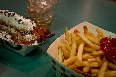 """Deep Fried Twinkie & Fries"" from Nathan's @ Mermaids Las Vegas Jan 09-249"