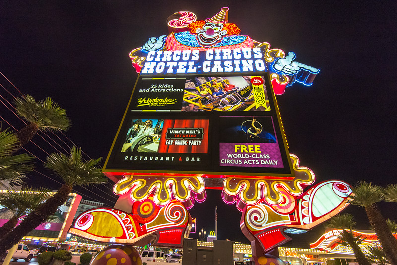 Circus Circus on the Strip, Las Vegas, NV - November 2014