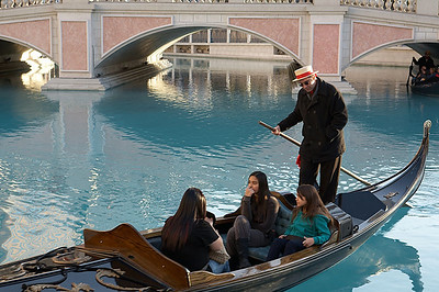 A gondola outside the Venetian.