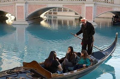 A gondola outside the Venetian.