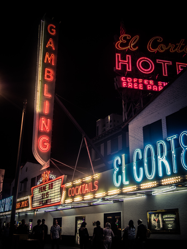El Cortez on Freemont Street in Las Vegas - just one of many things to do in Las Vegas.