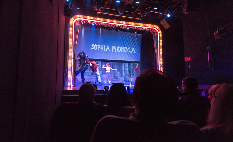 Start of Zombie Burlesque in Planet Hollywood.  The show was great!  Las Vegas, NV - November 2014
