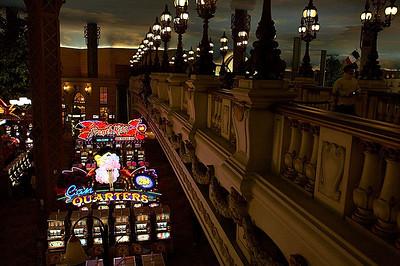 Slot machines inside of Paris.