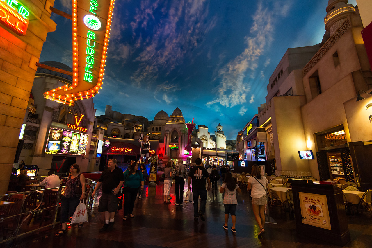 Miracle Mile shops in Planet Hollywood, Las Vegas, NV - November 2014