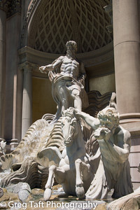 Roman Statues in front of the Forum Shoppes - Caesar's Palace