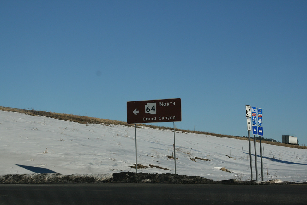 Just follow the signs.  Take Highway 40 to 64 north.