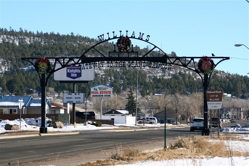 Williams AZ an old Route 66 town is on the National Register of Historic Places