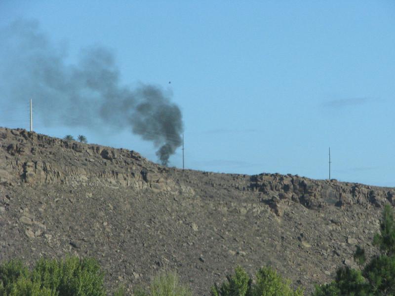 No its not a fire starting, just a dozer warming up.
