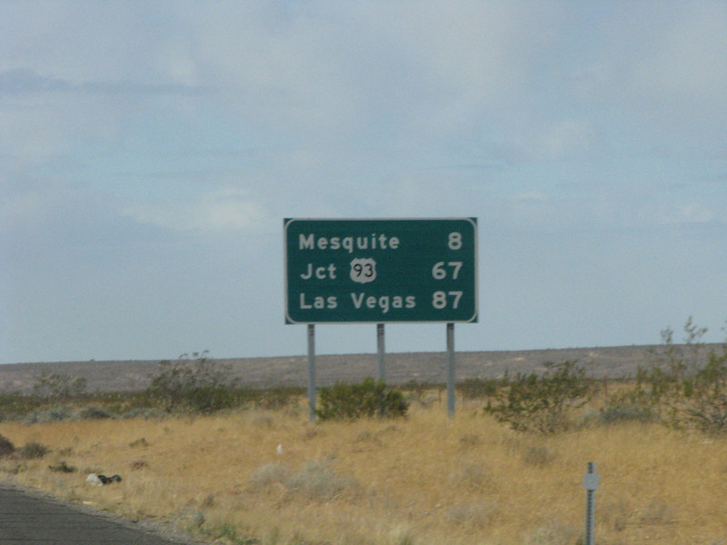 Almost to Mesquite.