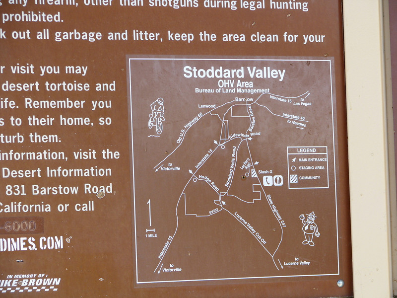 Information board on Stoddard.