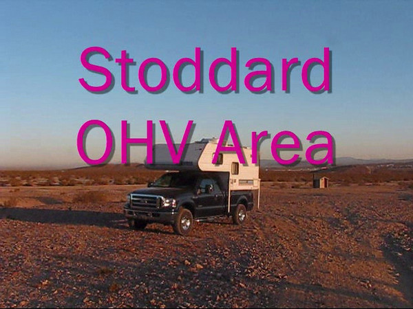 Early morning at Stoddard OHV Area.