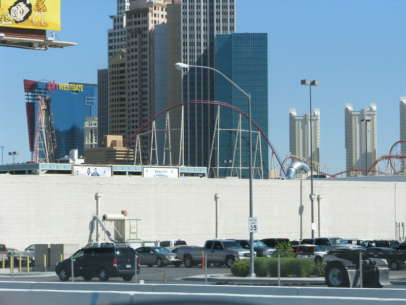 It's almost wall to wall casinos on the strip with only the streets to give breathing space.