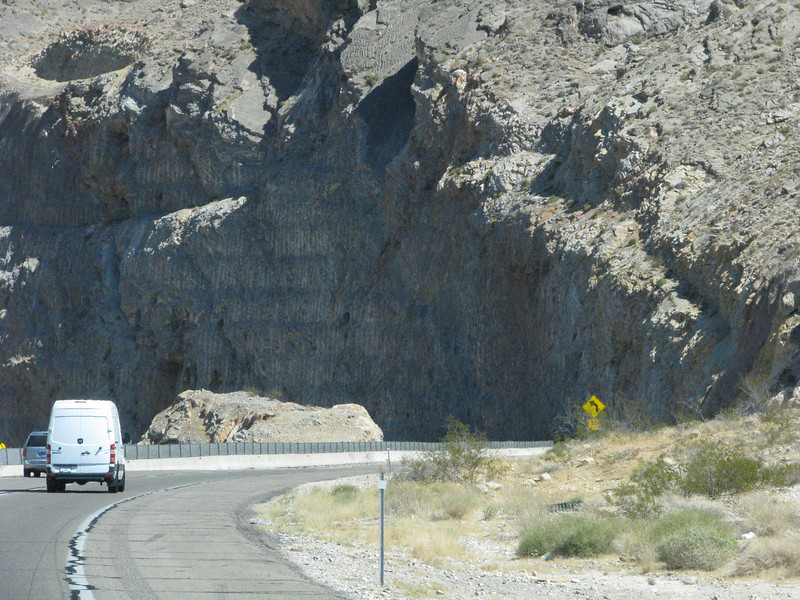 Entering the Virgin River Gorge area.