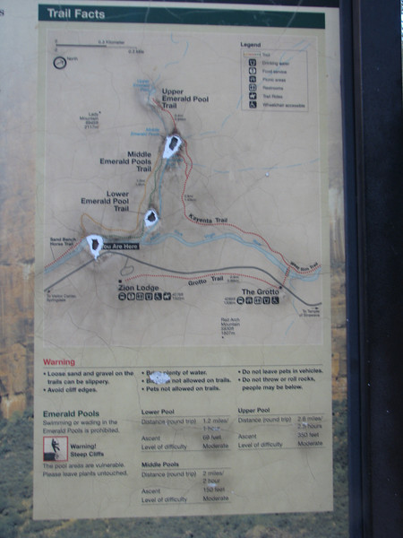Trail map of Emeraold Pools
