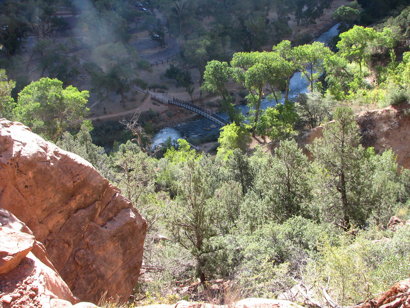 A good view of Zion Lodge and the bridge we crossed.