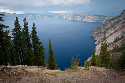 Looking over Crater Lake