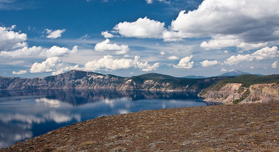 View over Crater Lake in Crater Lake National Park