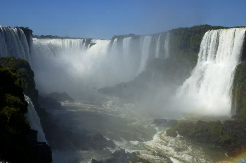Iguazu Falls, looking up towards the Devil's Throat from the Brazilian side