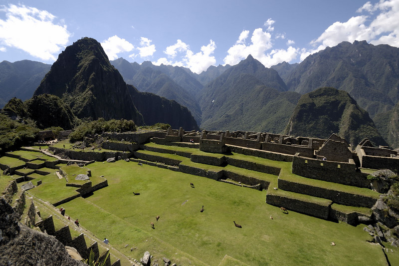 Machu Picchu, looking across the Plaza