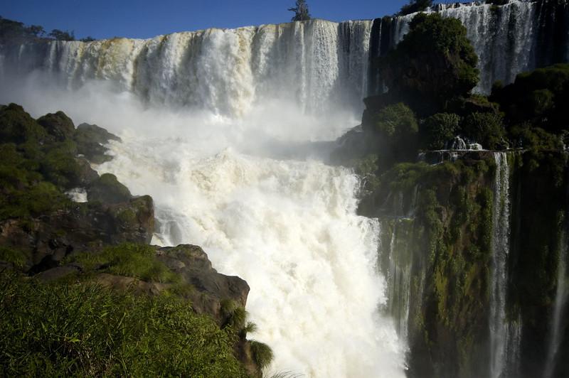 Iguazu Falls looking down on the Devil's Throat falls