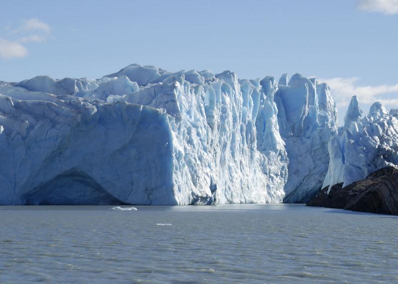 Glacier Moreno, start of the ice bridge