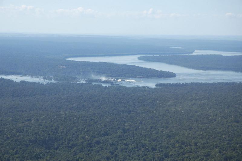 Iguazu Falls from the air
