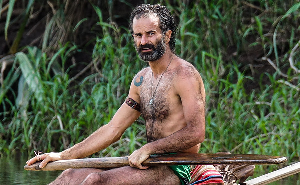 """I spotted """"The Most Interesting Man in the World"""" out paddling for his morning breakfast of caiman."""