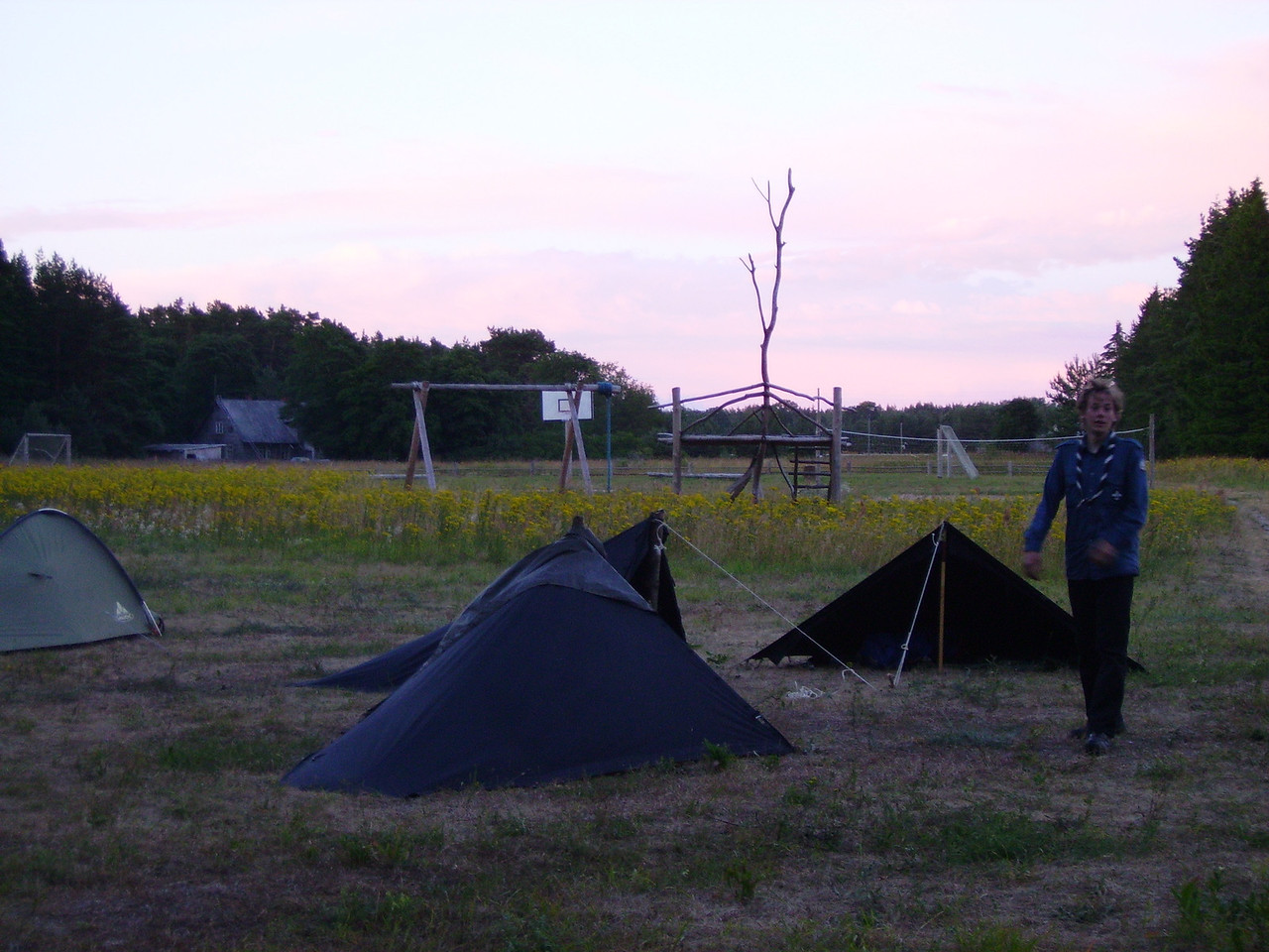 Camping with German scouts between Ventspils and Lepaja
