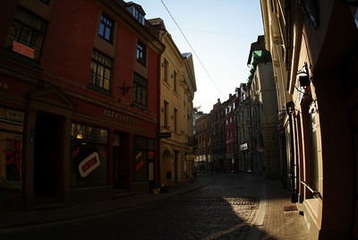 The old city is pedestrian only and pretty big.  It was nice to wander the quiet streets.